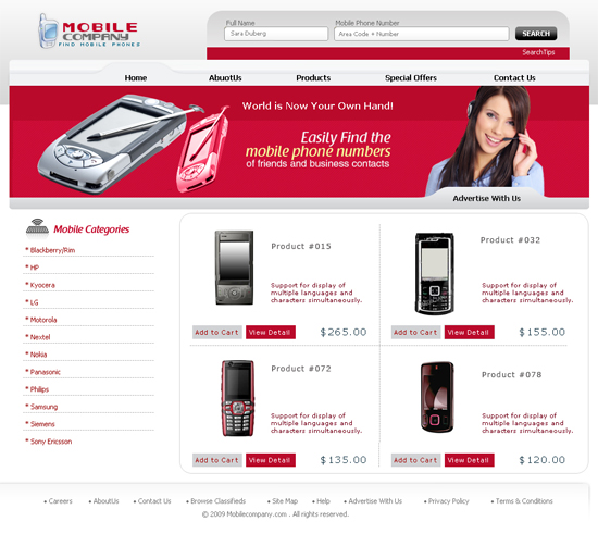 10 high quality mobile store ecommerce templates free for Yahoo ecommerce templates