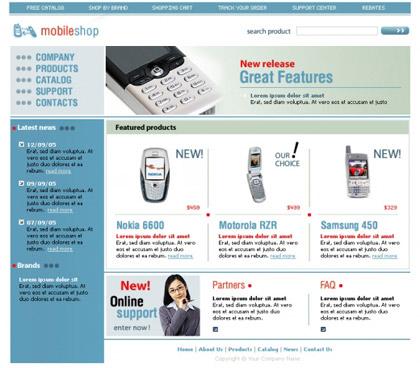shopping cart templates | Free Web Templates | Free Css Templates ...