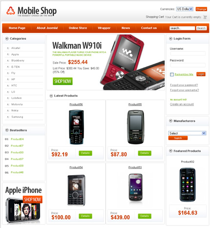 Mobile Store Templates   Free Web Templates   Free Css Templates ...
